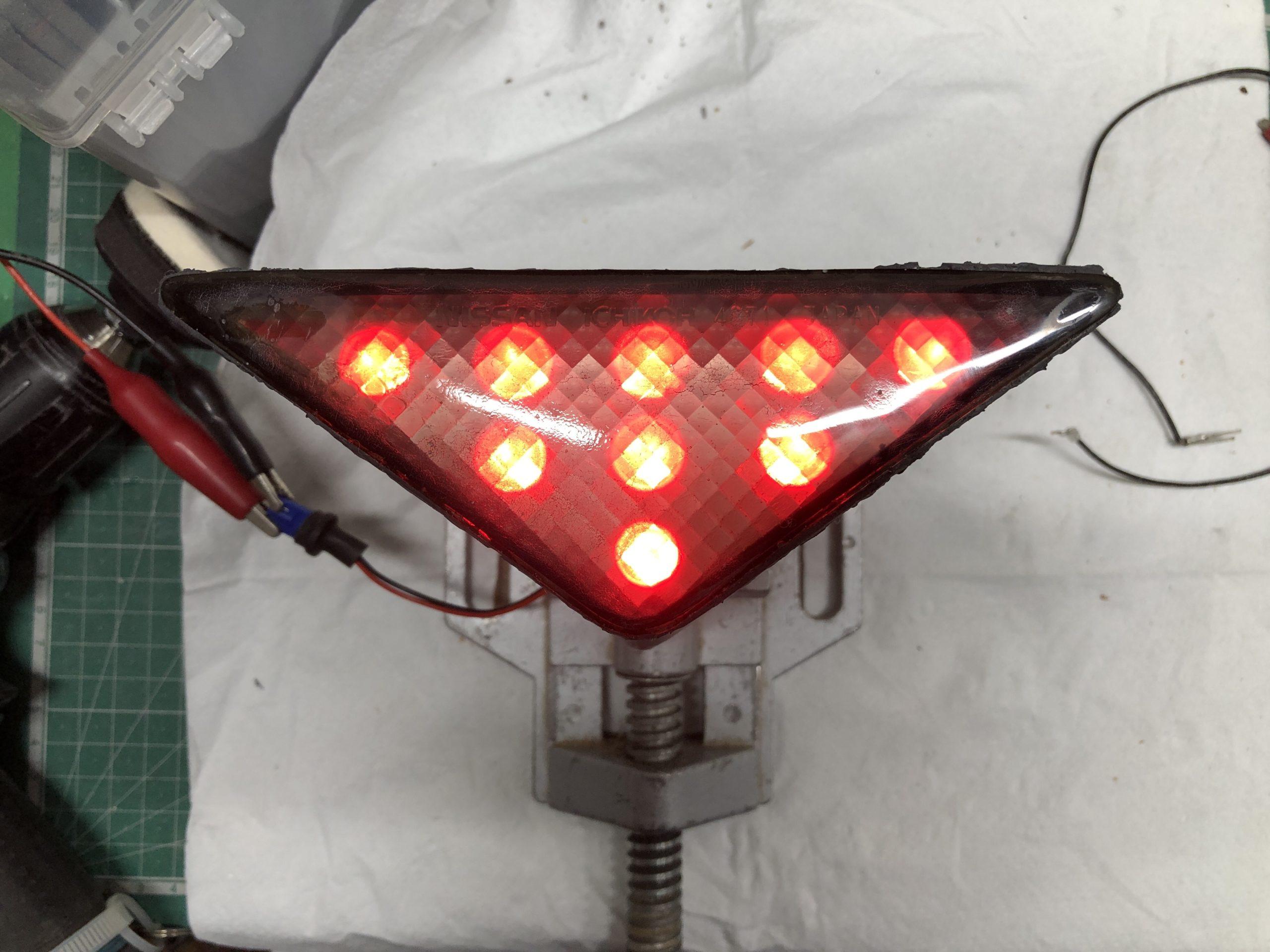 S15-Silvia-ハイマウントストップランプ 点灯確認