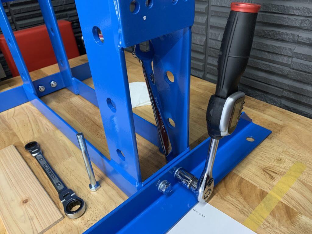 toolsisland(ツールズアイランド) 卓上式油圧プレス 組立 トルク締め