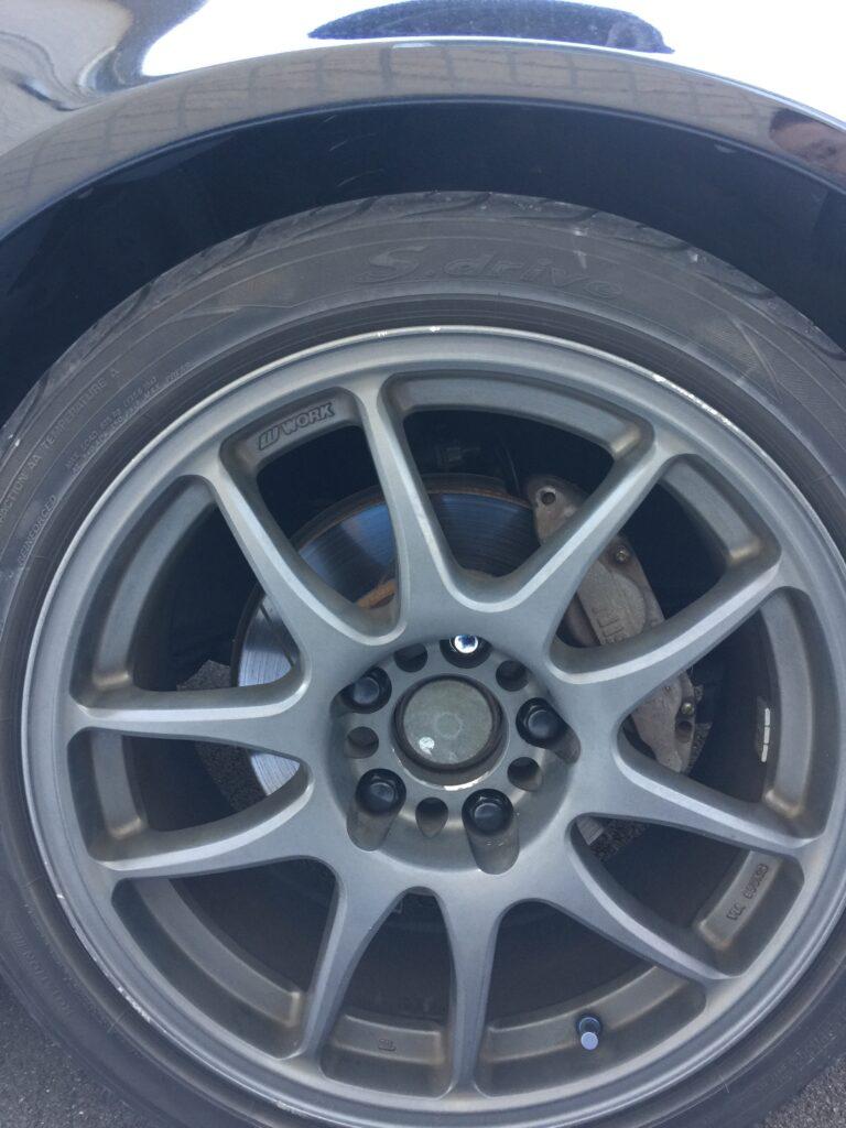 S15 シルビア フロントタイヤ車高